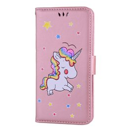 Wholesale Star Flip Case - Unicorn Horse Wallet Leather Case For Oneplus 5 Redmi NOTE4 NOTE3 LG K10 Sony Xperia X XA XZ Cartoon Animal Star Flip Phone Stand Cover