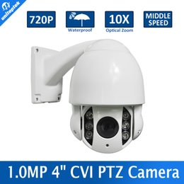 Wholesale Outdoor Vandal Dome Camera - CVR Camera 1.0 Megapixel 720P Waterproof HDCVI IR 60M CVI PTZ Speed Dome Camera 10X Optical Zoom,Vandal-proof