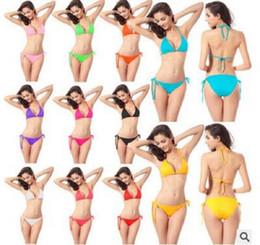 Wholesale Lingerie Bikini Models - 10 European And American Models Sexy Bikini Lingerie Fitness Popular Duick-Drying Halter Straps Sport Swimsuit L011