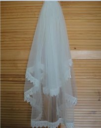 Wholesale Wedding Veil Prices - In Stock Wholesale Price Top Quality Ivory White Tulle Lace Bridal Accessories Two Layer Bridal Veil With Comb Wedding Veil