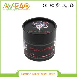 Wholesale Flat Fuse - Authentic Demon Killer Wire Flat Twisted Fused Clapton Hive Alien Quad Tiger Wire Coils 15 Feet Roll Coils Organic Cotton fit Atomizer