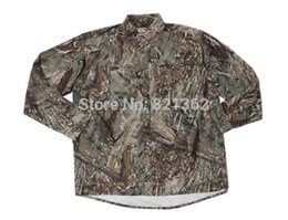 Wholesale Clothing Hunting Suit - Wholesale-Professional Reed Camouflage Hunting Suits Duck Camouflage Clothes Hunter Shirts