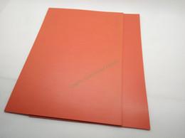 Canada Livraison Gratuite Feuille De Caoutchouc Laser 297 x210 x2.3mm A4 Taille Rouge couleur pour laser Gravure Graveur Stamp Maker Offre