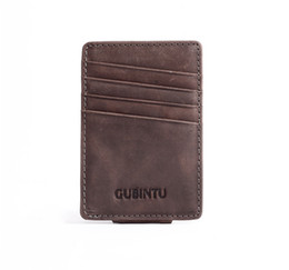 Wholesale First Package - Men's messy retro rough scratch simple, comfortable first layer of matte leather folder dollars pickup Taoka package