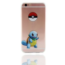 Wholesale Wholesale Iphone Anime Case - Poke case Pikachu Charizard Squirtle Blastoise Cute Cartoon Transparent clear Case Game Anime TPU cases for iphone 5 5s se 6 6s plus hot