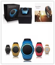 Wholesale Mp3 Music Watch - Top Selling B20 Mini Bluetooth Speaker Bass Smart Watch Bluetooth Wireless Universal For Music Player With TF Card.