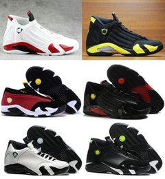 Wholesale Cheap Red Candy - 2016 Retro 14 Men Basketball Shoes Sneakers Forest Green Red Grey 100% Original Quality 14s Candy Cane Cheap Sale online