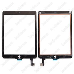 Wholesale Touch Screen Oem Wholesale - 20PCS OEM Touch Screen Glass Panel Digitizer for iPad Air 2 Balck and White Free DHL EMS