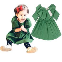 2019 vestidos de tutú verde Chica INS princesa vestido verde 2016 nuevos niños de la historieta ins de impresión de manga corta vestido de los niños Ropa B001 vestidos de tutú verde baratos