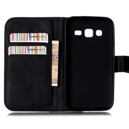 Wholesale Galaxy Core Duos Cover - Wholesale-Fashion LOVE Heart Leather Case Cover for Samsung Galaxy CORE Prime VE SM-G361H DS DUOS G361H G361F G360H Wallet Card Cover