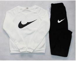 Wholesale Sets Sportswear - 2016 Autumn Winter Jogging Femme Tracksuit Women Sport Suit Hoodie Sweatshirt+Pant Marque Survetement Sportswear 2pc Set