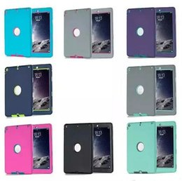 Wholesale Wholesale Ipad Neoprene Case - 2017 hot 3 in 1 Defender waterproof shockproof Robot Case military Heavy Duty silicon cover for ipad air ipad 234 ipad mini