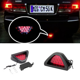 Wholesale Strobe Motorcycles - Motorcycle tail light Motorbike Moto Brake Light Flash Strobe Emergency Warning LED stop signal Lamp hot selling