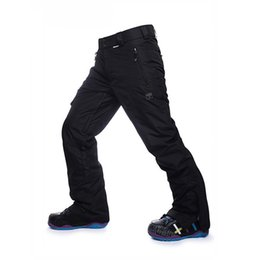 Wholesale Men Wind Pants Blue - Wholesale-2016 winter man's ski pants ski pants veneer double plate warm wind and waterproof ski mountaineering pants thickening