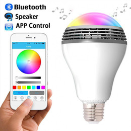 Wholesale Dimmable Led Day Light - Playbulb Bluetooth Speaker Smart Dimmable LED Light Bulbs Color Changing Lighting Romantic party Lights Valentine's Day
