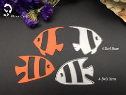 Wholesale Fish Dying - METAL CUTTING DIES 2PC sea world fish underwater animal album card Scrapbook album embossing stencil paper craft punch cutter