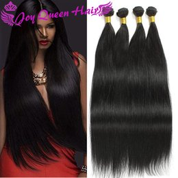 Wholesale Cheap Real Human Hair Weave - Natural Human hair Weave Cheap Brazilian Malaysian hair bundles Real Indian Straight hair extension Peruvian weft 50g pc