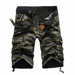 Wholesale men camouflage cargo shorts - Wholesale-2016 New High Quality Men's Camouflage Casual Cargo Shorts Military Camo Multi-Pocket Outdoor Shorts For Men Pantalones Hombre