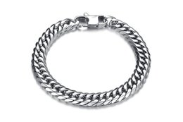Wholesale Mens Heavy Stainless Steel Chain - Fashion Punk Style 316L Stainless Steel Mens Bracelet Classical Biker Bicycle Heavy Metal Link Chain Jewelry Bracelets Promotion 5PCS LOT Mi
