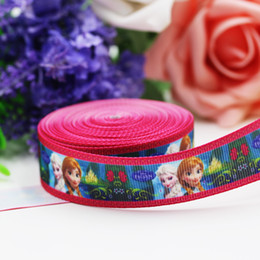 Wholesale Cartoon Clothes Button - Outward Ribbon 7 8 '' (22MM width) frozen snow princess rib belt webbing supply QY288-148