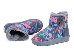 Wholesale Fashion Heels China - New MNS Graffiti boots Women Short Boots MNS Womens boots camouflage boots Snow boots womens winter snow boots made in China Button boots