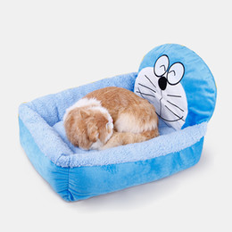 Wholesale Small Soft Dog House - Winter Warm Cartoon Dog Bed House Pens Mat Cozy Soft Sofa Detachable Kennel For Small Puppy Dogs Cats