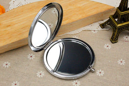 Wholesale Double Side Stickers - Free shipping 200pcs lot DIY Kit Blank Compact Mirror with 58mm epoxy stickers, Pocket mirror supply, Make Up Mirror, Double Sided Mirrors