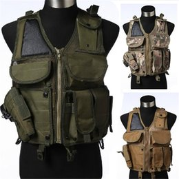 Wholesale Vest Military - Tactical Military Airsoft Paintball Hunting Combat Vest with Mag Holster