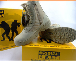 Wholesale Desert Combat - Delta Tactical Boots Military Desert SWAT American Combat Boots Outdoor Shoes Breathable Wearable Boots Hiking EUR size 39-45