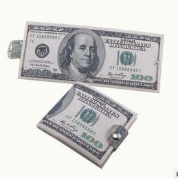 Wholesale England Paper - Various countries Paper money wallet fashion men dollar purse wallet card holders Children Kids Gift Presents 50pcs lots