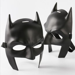 Wholesale Black Mask Batman - Super Heroes Batman Mask Batman v Superman Dawn of Justice Cowl Mask Masquerade Cosplaly Mask Props One size for most adult and child