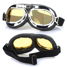 Wholesale Toy Glasses Sale - Hot Sale Steampunk Gothic Goggles Flying Scooter Helmet Glasses Cool Steampunk Goggles Glasses Cosplay Welding