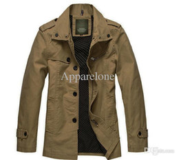 Wholesale Coat Army Fashion For Men - Wholesale-Hot men jacket slim fit brand AFS JEEP rich cotton clothing fashion casual coat for spring autumn winter size from M to XXXL