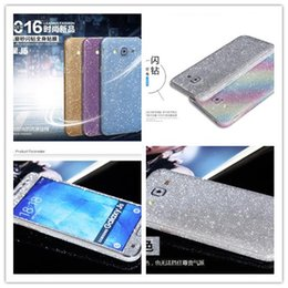 Wholesale S3 Front Back Case - Colorful Full Body case Sticker Bling Skin Cover Glitter Diamond Front Sides Back Screen Protector For Samsung s7 s6 edge s5 s4 s3