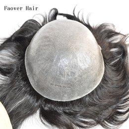 "Wholesale Thin Skin Hair Wig - Top 7A+ indian virgin hair 1b,2#,3#,4#,4ASH,5#,6#,7#,7ASH color men's toupee 110% density 6"" length hair pieces 10x8 size thin skin base"