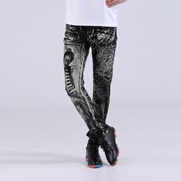 2019 calças leopardo hip hop Atacado-Moda Preto Calças Dos Homens 3D Leopardo E Palhaço Impresso Jeans Novo Estilo Em Linha Reta Calças Dos Homens Casuais Calças Jeans Hip Hop Jeans calças leopardo hip hop barato