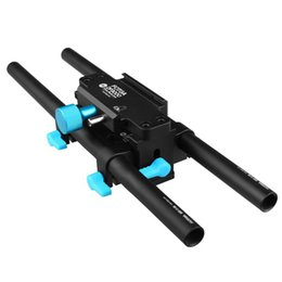 Wholesale Dslr Rig Plate - FOTGA Tripod Mount Quick-Release Safety Base Plate for 15mm Rod Rail DSLR FF Rig