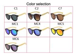 Wholesale Light Pink Coats For Women - 7 colors Bamboo leg brand Sunglasses for women men Cat eye Anti-Glare coating Designer Tourism Casual fashion HD super light Sun glasses