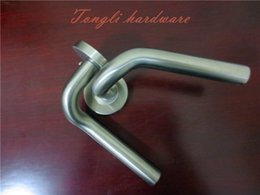 Wholesale 2016 new stainless steel lever door handle washroom outside door interior furniture pull home hardware