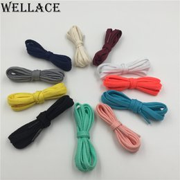 Wholesale heavy duty polyester - (30Pairs Lot)Wellace fashion flat Athletic shoe laces Unisex heavy duty Bootlaces easy tie shoelaces footwear for Wholesales