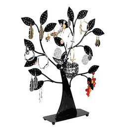 Wholesale Nest Earrings - 1PC New Black Earring Tree Bird Nest Fine Jewelry Display Stand Holders Also Fit Bracelets Necklaces For Women 43.5cmx37.5cmx8cm