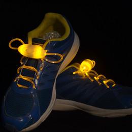 Wholesale Printed Shoelaces Wholesale - LED Luminous Shoelace The 3rd Generation Olive Party Disco Flashing Shoelace Light Up Shoe Laces 1907002