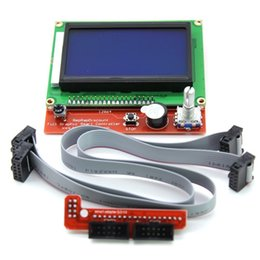 Wholesale Lcd Graphic Display Modules - LCD 12864 Version Graphic Smart Display Controller Module with Adapter and Cable for RAMPS 1.4 Reprap 3D Printer Kit