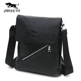 Wholesale Shoulder Tablet - Wholesale-CROSS OX Men's Genuine Leather Casual Fashion Shoulder Bag For Men Crossbody Bags Messenger Bag Tablet Holder Business SL353M