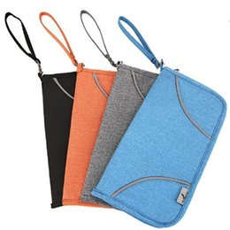 Wholesale Paid Cards - 4 Color Anti RFID NFC APPLE PAY Scanning Outdoor Travel Passport ID Card Wallet Holder Pouch Bag