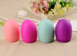 Wholesale Pc Shelf - Brushes Cleaner Tools Brushegg Silicone Egg Cleaning Glove MakeUp Washing Brush Scrubber Board Shelf Tools ( 20 Pcs Lot)