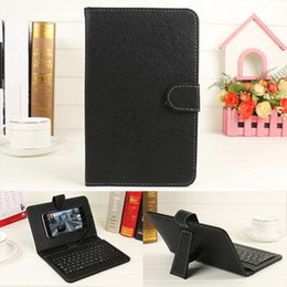 Wholesale Bluetooth Holster - Universal Android Bluetooth Keyboard filp holster Leather Case with holder for HTC Nubia Samsung xiaomi ZTE Cool Huawei Motorola phone cases