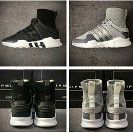 Wholesale Mens Low Ankle Shoes - 2017 New EQT Equipment ADV High Ankle Boost Sock Primeknit Zebra White Black running shoes for Womens Mens eqt shoes for sale size 36-44