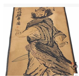 Wholesale Yellow Sheet Metal - Antique Old Calligraphy Book Chinese Paintings Landscape Paintings Home Decorative Wall Paintings