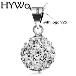Wholesale Model Heart - HYWo Silver plated circular pendant Shambhala crystal Zircon jewelry female models cute vintage fashion jewelry , wholesale Chainless 10MM